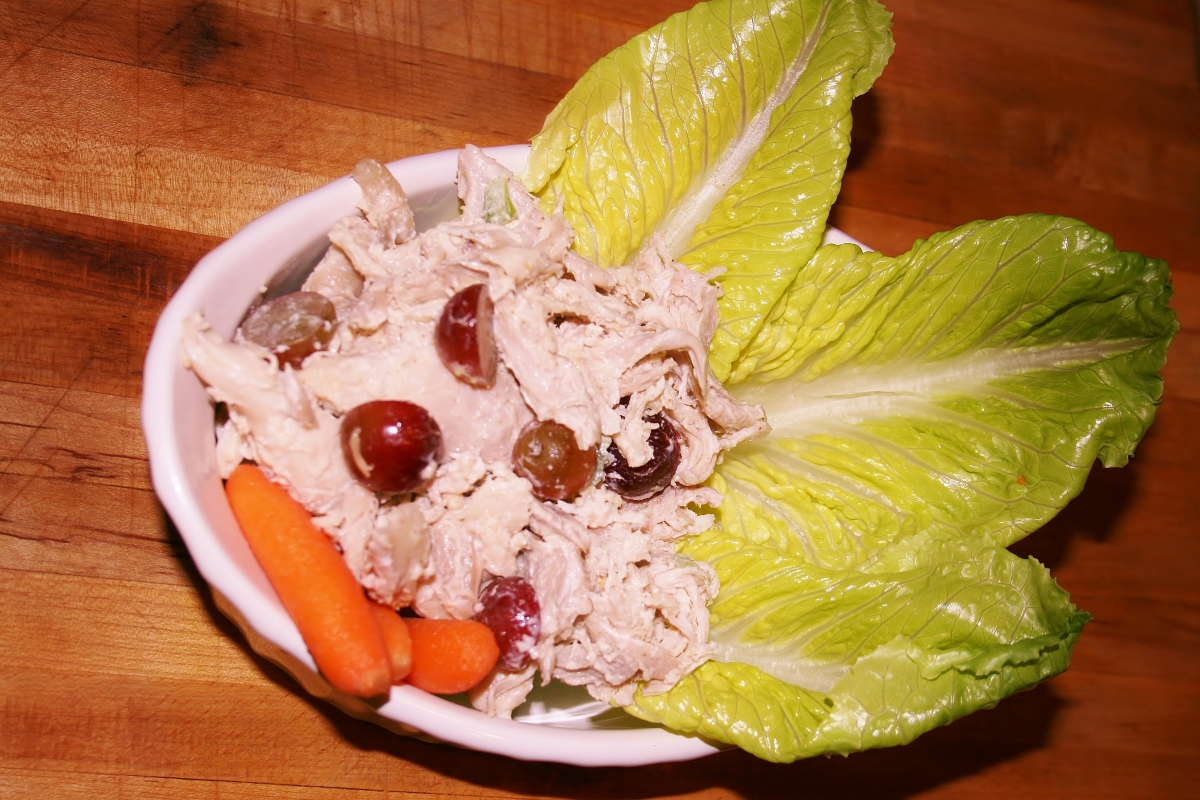 Chicken salad i eat more than grass